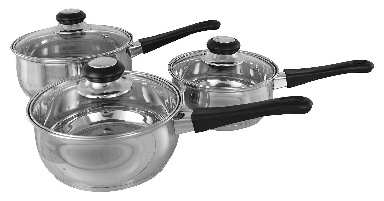 Buckingham Set of Three Saucepans 16 cm/ 1.6 L, 18 cm/ 2.3 L, 20 cm/ 3.2 L B&i International 16516