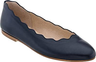 French Sole Womens Nicely Leather Pointed Toe SlingBack Nude/Black Size 6.5 rV