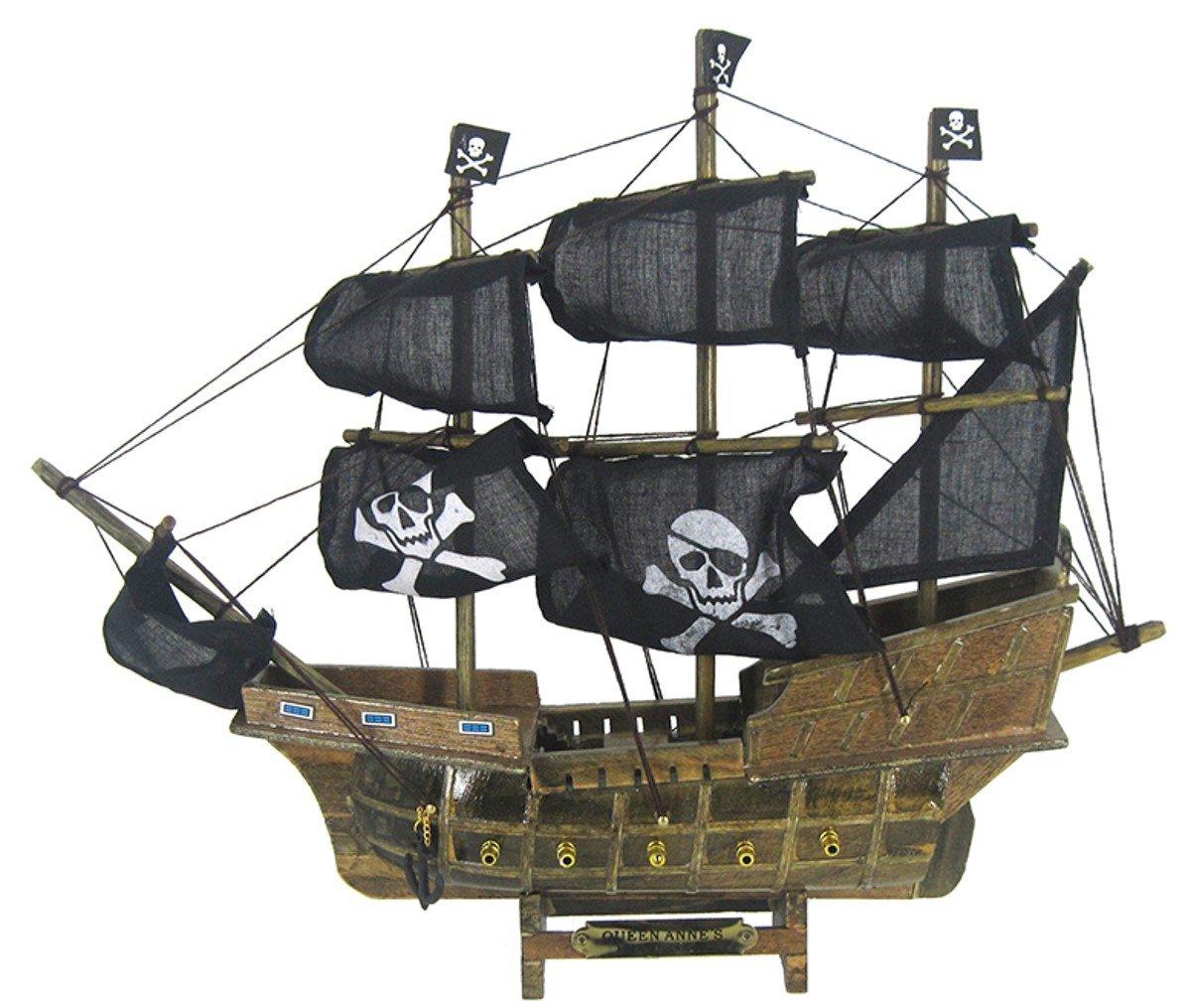 Chesapeake Bay Wood Pirate Ship 69193 13 Inches