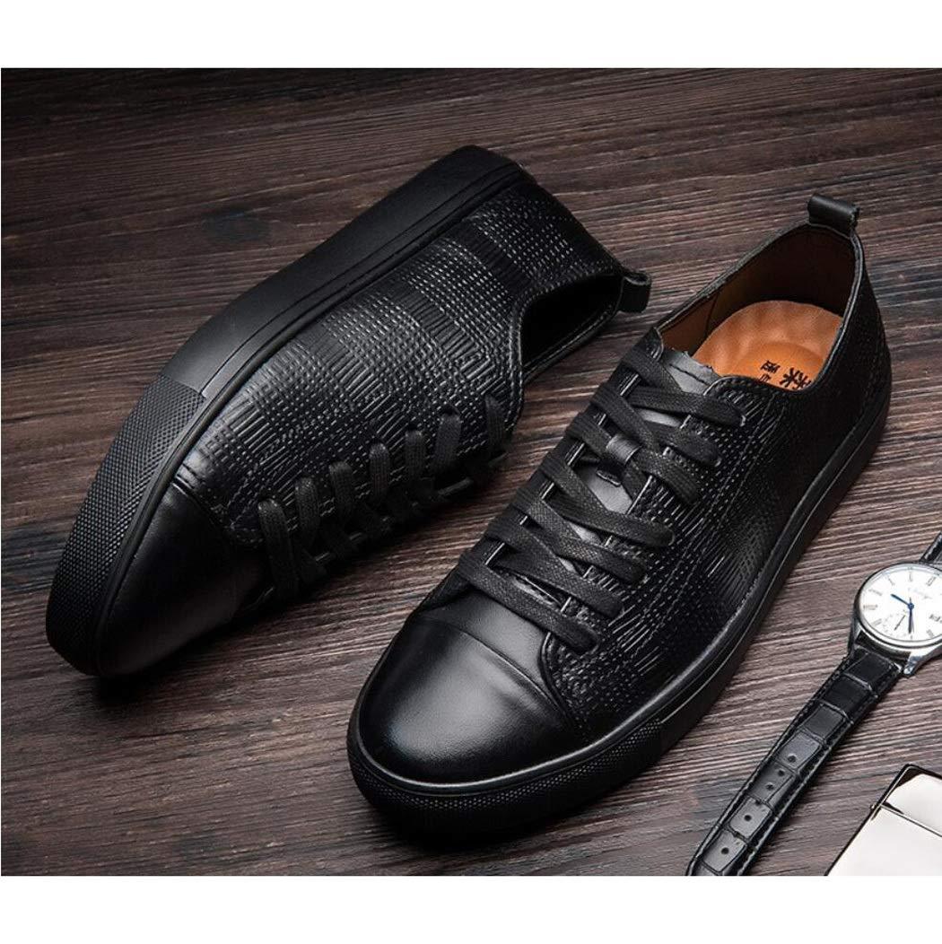 Zxcvb Herren Freizeitschuhe, Herbst und Winter Gürtel Mode Schuhe Outdoor Niedrig-Top Gürtel Winter PU Geschäft Schuhe d24206