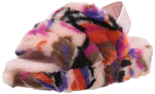 9ddbe111ace UGG Women's Fluff Yeah Slide Motlee Wedge Sandal