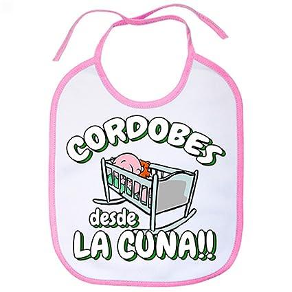 Babero Cordobés desde la cuna Córdoba fútbol - Rosa: Amazon.es: Bebé