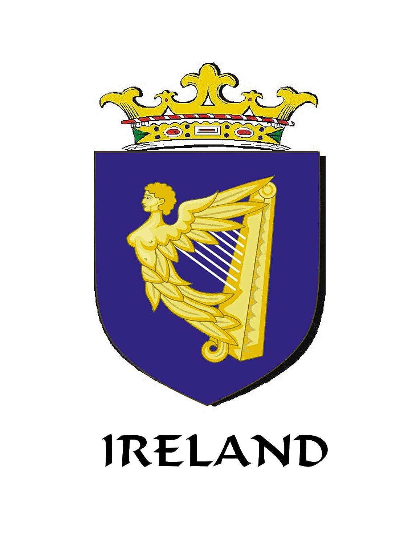 McCann Irish Claddagh Coat of Arms Plaid brooch ~ Emerald stones
