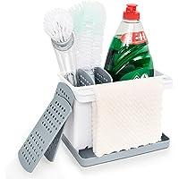 Yohom Kitchen Sink Caddy Organizer Sponge Holder with Removable Drain Tray for Dish Soap Bottle Scrub Brush Dishcloth…
