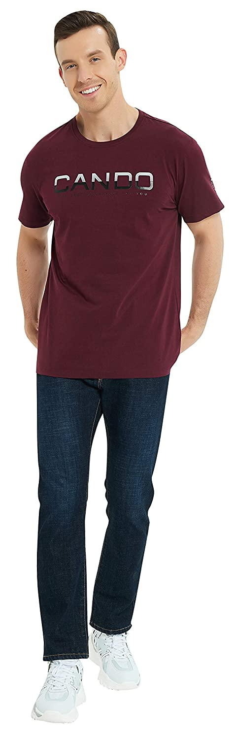 Mens Color Gradient Can Do Pullover Top T Shirt