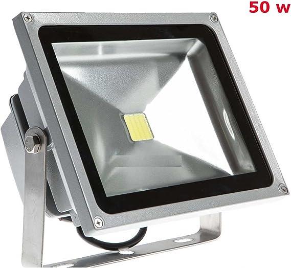 FOCO LED EXTERIOR 50 WATIOS LAMPARA PARED BAJO CONSUMO 50W JARDIN GARAJE A: Amazon.es: Iluminación