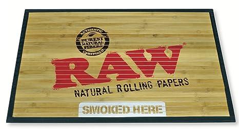 RAW Natural Rolling Papers - Bamboo Door Mat 30u0026quot; ... & Amazon.com : RAW Natural Rolling Papers - Bamboo Door Mat 30