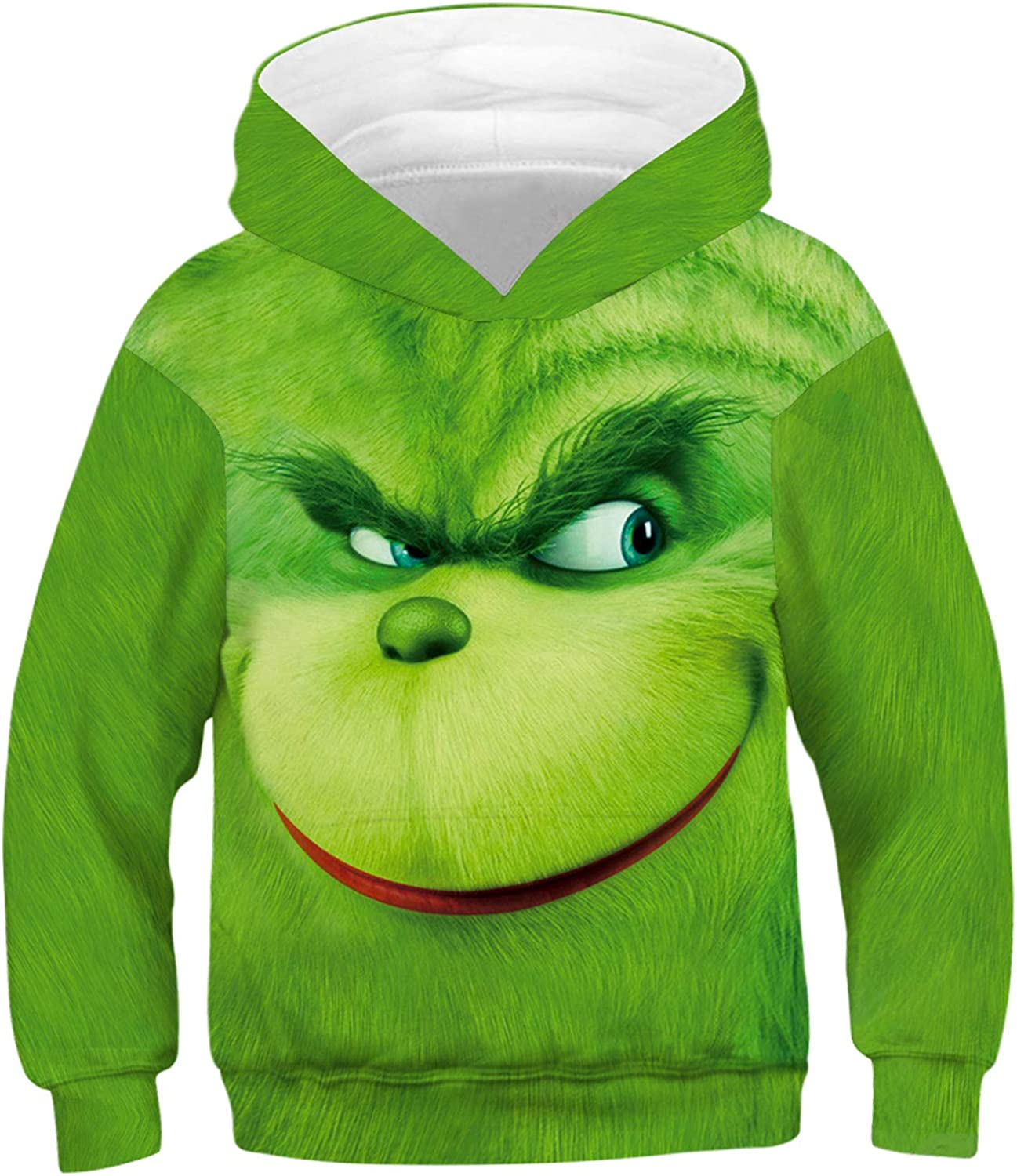 COUSIN CANAL Boys Girls Novelty Hoodie 3D Graphic Pullovers Christmas Sweatshirts