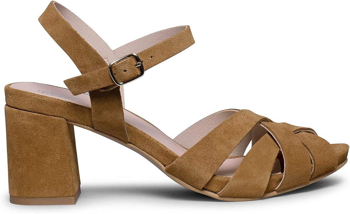 VIELA Sandalia de Piel de Tiras Cruzadas Cuero: Amazon.es: Zapatos y complementos