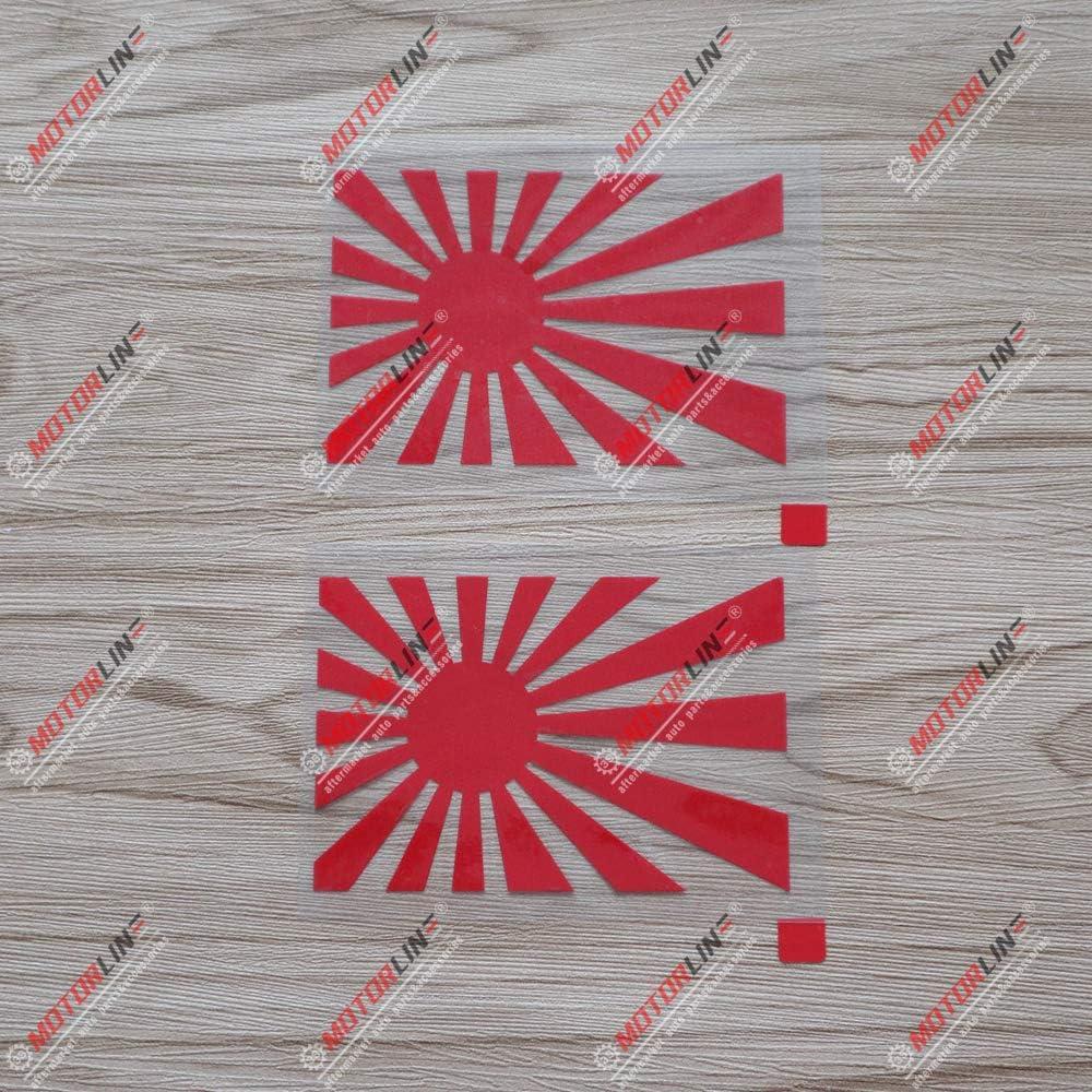 2 X Rote 10 2 Cm Japanische Aufgehende Sonne Aufkleber Jdm Japan Auto Vinyl Gestanzt Kein Bkgrd Passend Für Toyota Honda Mazda Küche Haushalt