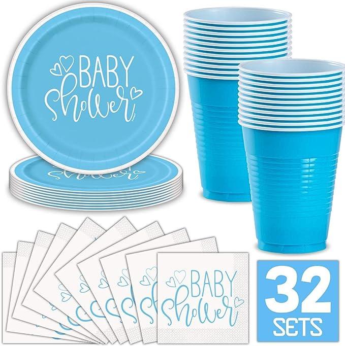 16 x Blue Star Happy 10th Birthday Napkins 33cm Boys 10 Party Tableware Supplies