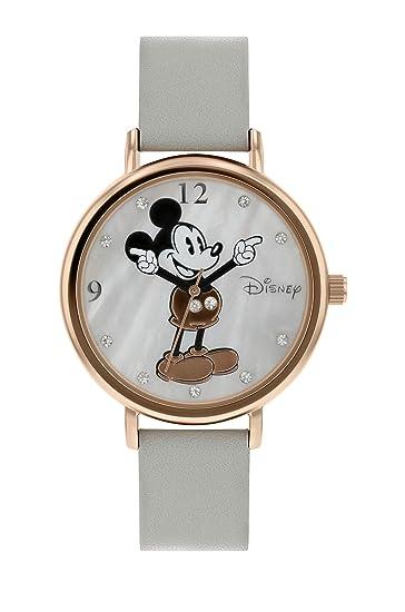 Disney Mickey Mouse DM809C - Reloj de Pulsera para Mujer, Color Oro Rosa: Amazon.es: Relojes