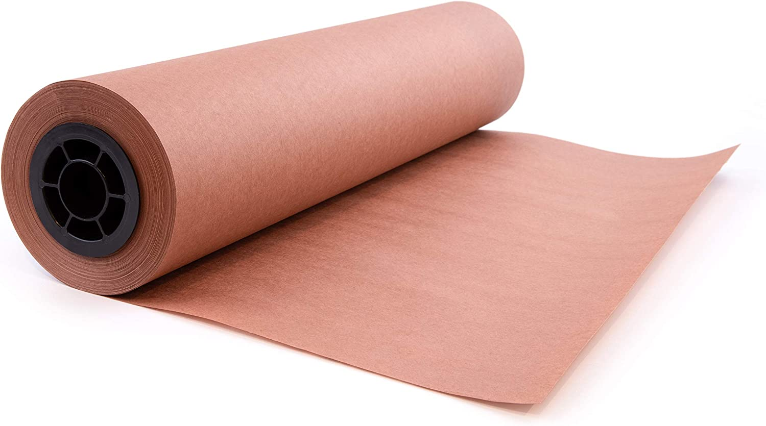 """Pink Butcher Kraft Paper Roll Peach Wrapping Paper for Beef Briskets, BBQ Meat Smoking USA Made, All Natural Food Grade, Unbleached, Unwaxed, Uncoated Sheet (24"""" x 200' (2400""""))"""