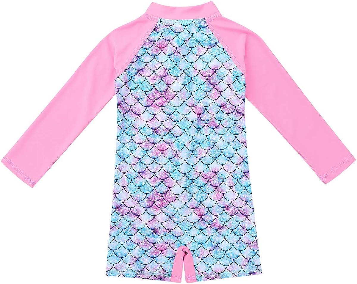 YiZYiF Baby//Toddler Girls Flower Rash Guard Swimsuit Sun Protection Bodysuit Swimwear