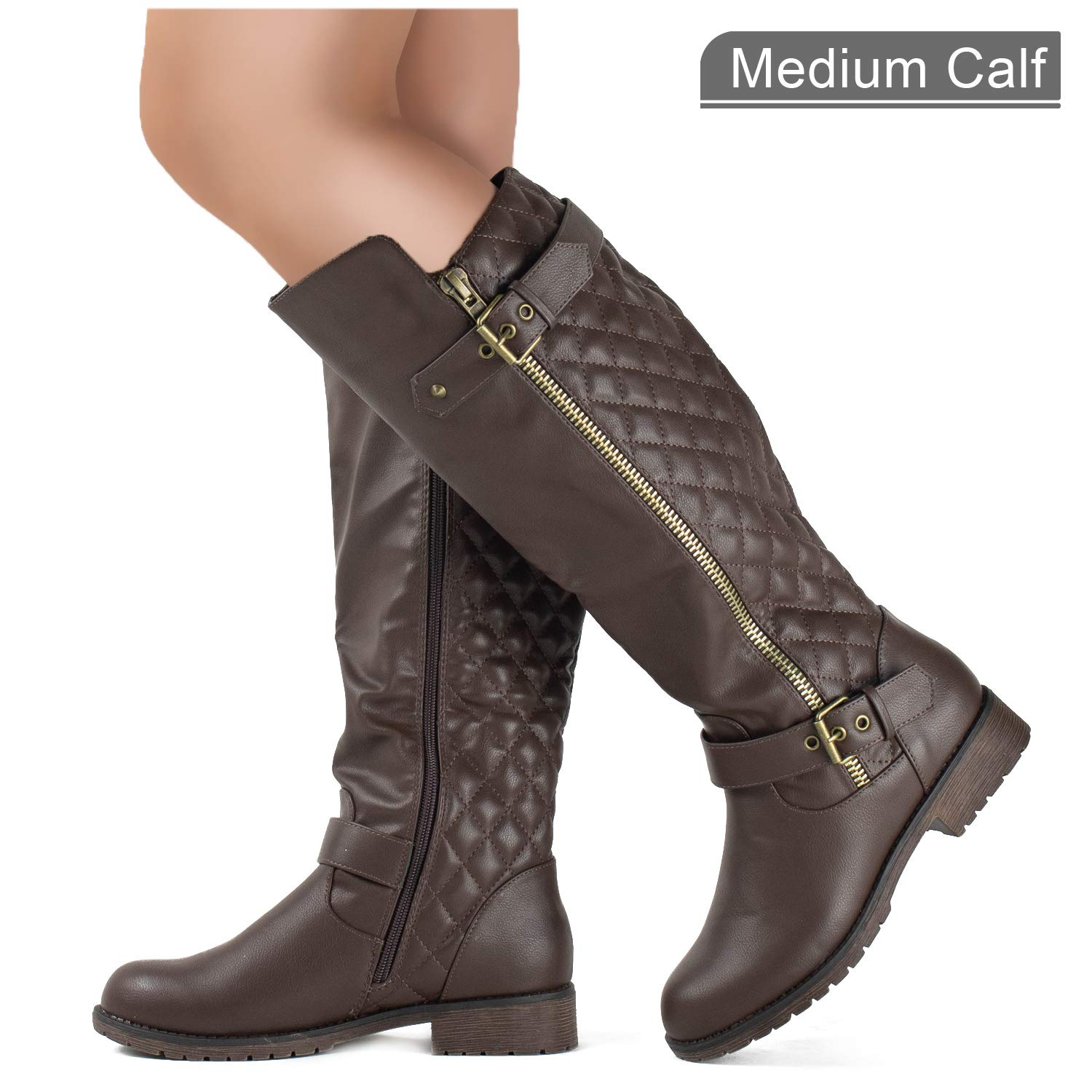 f43701d953948 ... RF ROOM OF FASHION Lady's Knee High Hidden Pocket Riding Boot (Medium  and Wide Calf) ‹Return to Previous Page. Bug Fix Sale! Previous; Next