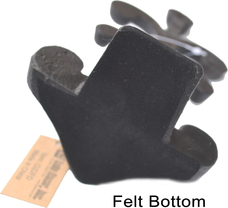 Doorstops LuLu Decor Cast Iron Fleur De Lis Door Stopper Antique Black