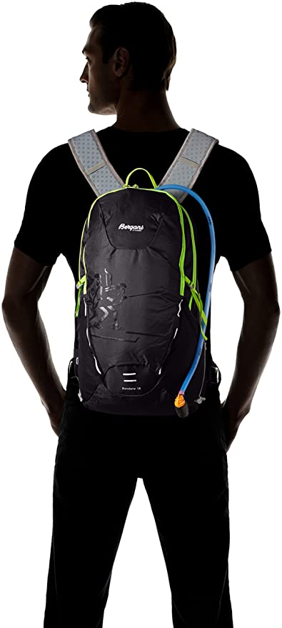 Bergans Rondane Rucksack Black Black/Neon Green Size:55 x 40 x 30 cm, 18 L: Amazon.co.uk: Sports & Outdoors