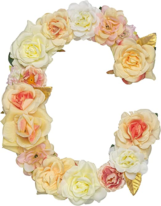Pink /& Red Floral Iron On Letters /& Numbers #1