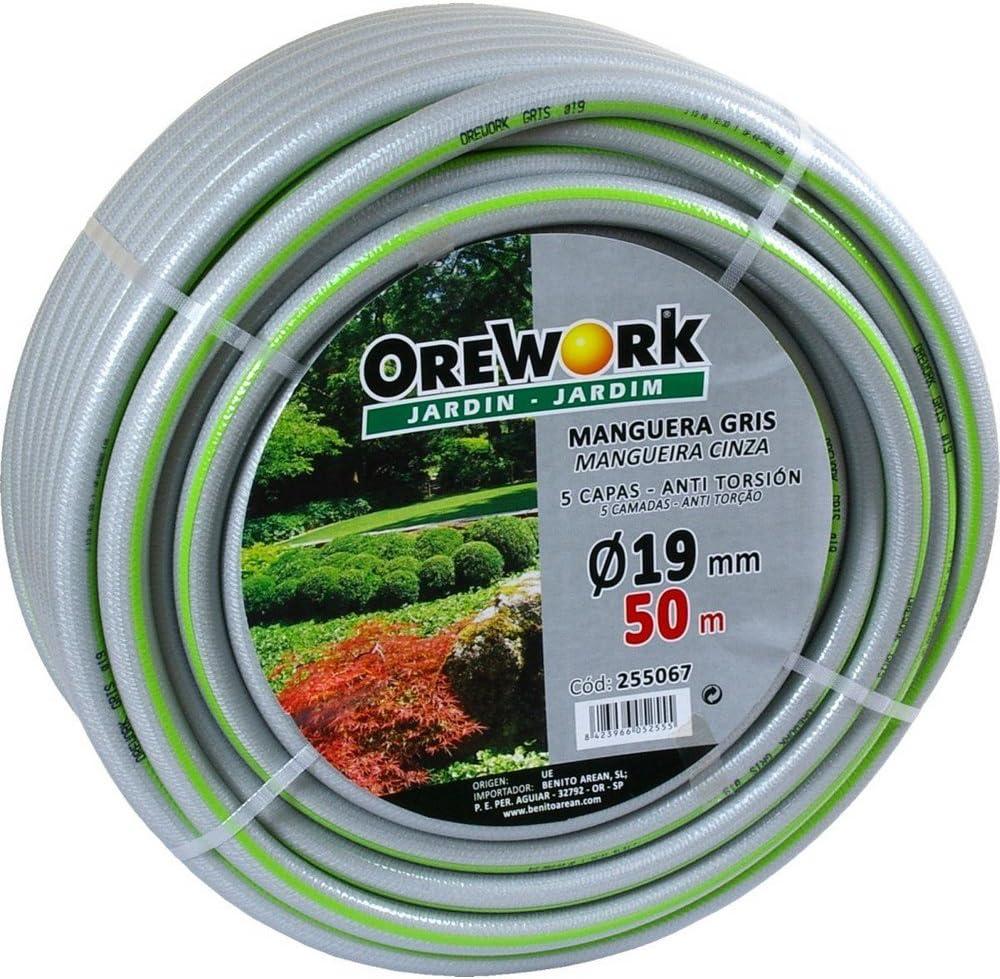 Orework 255066 Manguera 5 Capas 25 Metros y 19 mm de diámetro, Gris: Amazon.es: Jardín