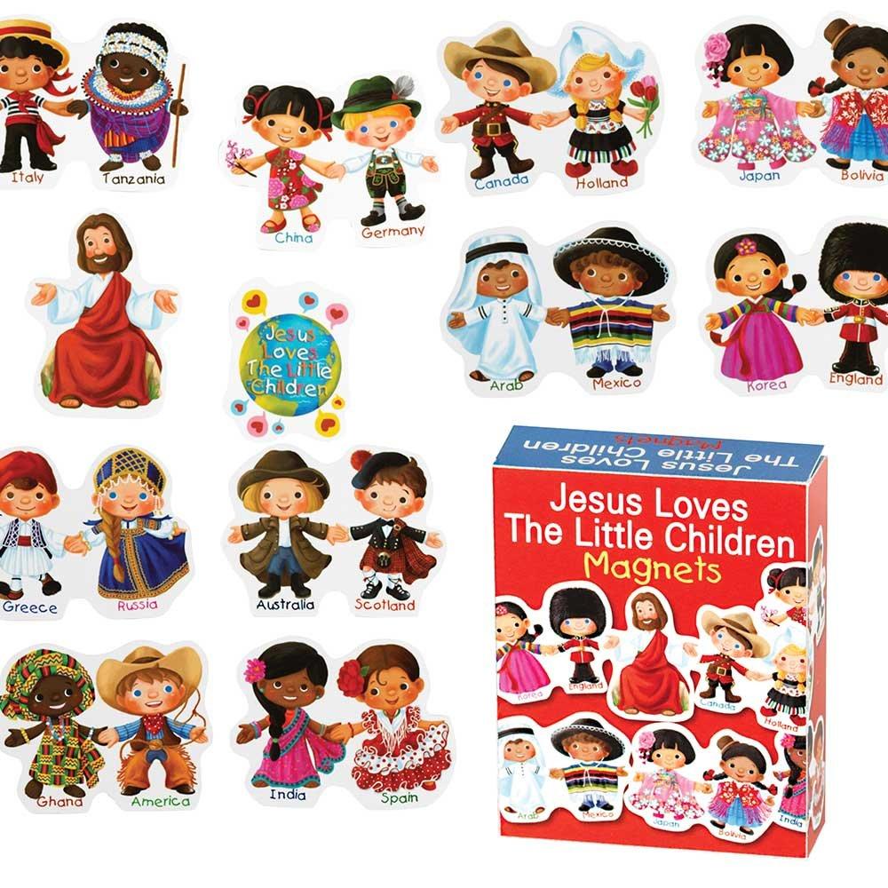 Dicksons Jesus Loves The Little Children 4 x 3 inch Vinyl Set of Story Magnets by Dicksons
