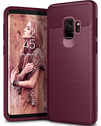 detailed look 08704 a8148 Caseology Vault for Galaxy S9 Case (2018) - Rugged Matte Finish - Burgundy