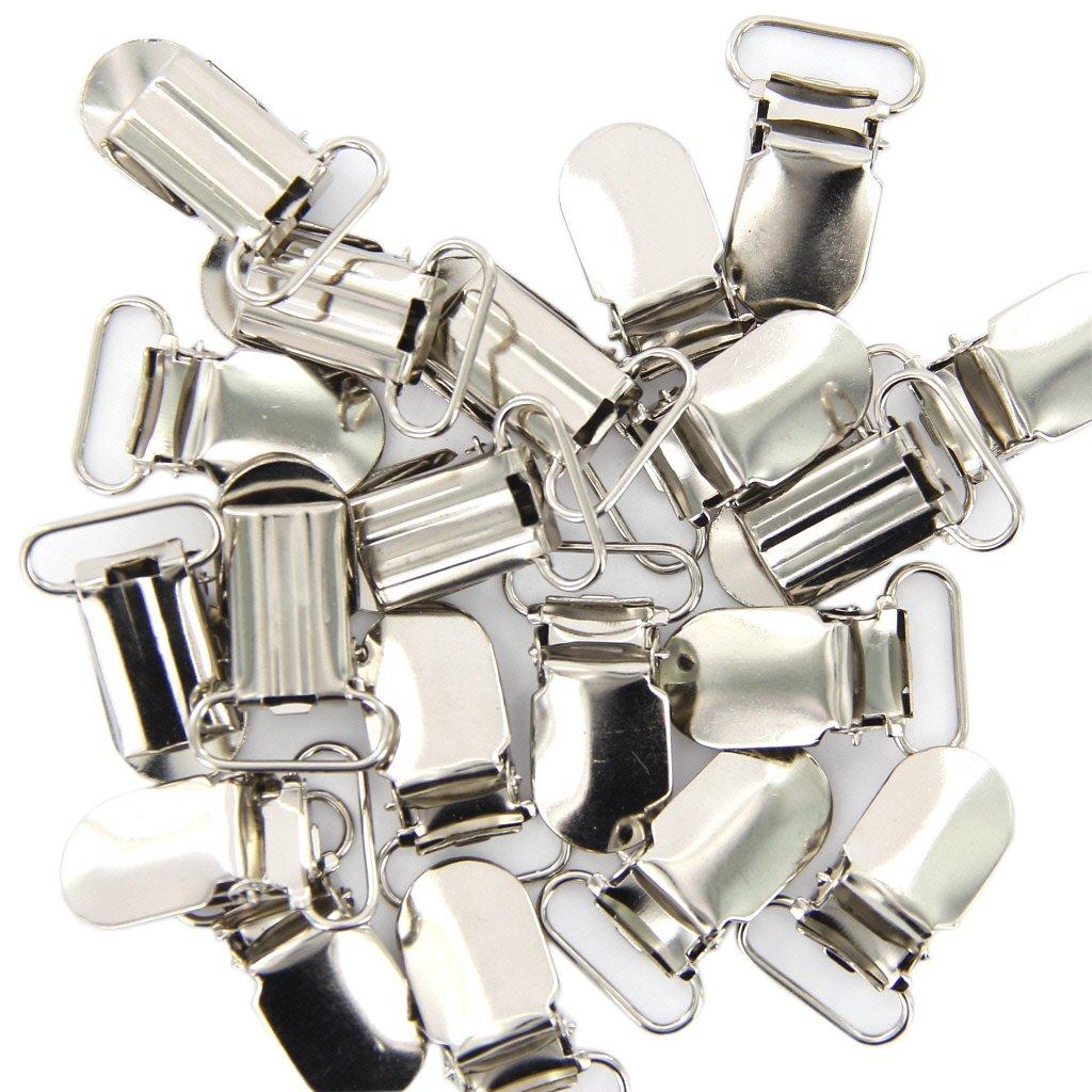 20 x Braces Clips Strap Hooks 20 mm Silver Coloured Générique STK0115010470