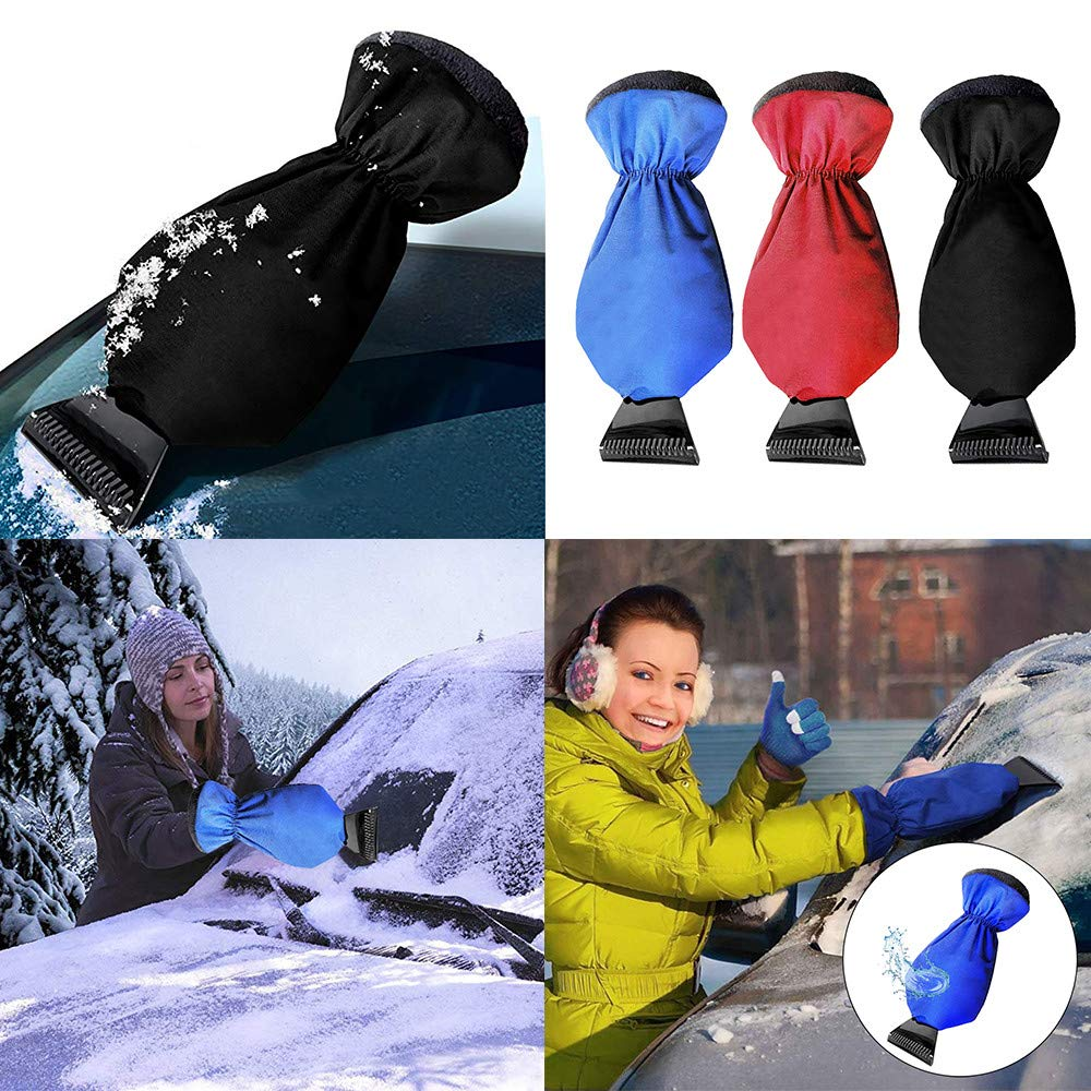 lotus.flower Ice Scraper Mitt Snow Scraper Tool Car Truck Ice Icing Scraper Plastic Blade Mini Glove Kits for Windshield Window Snow (Blue) by lotus.flower (Image #2)