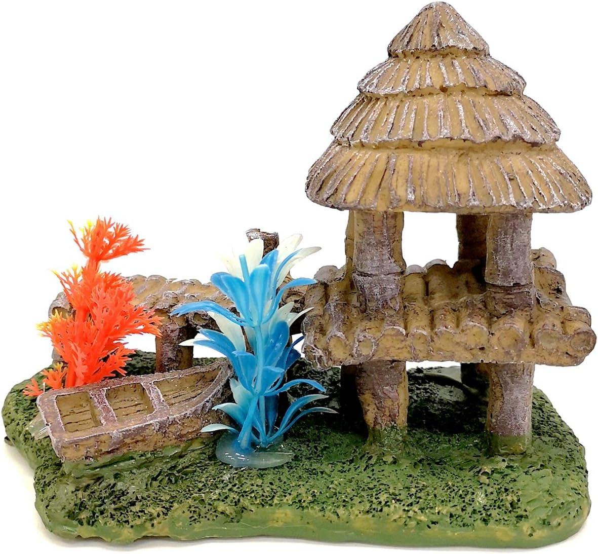 M2cbridge Aquarium Fish Tank Rock Hiding Cave Beach House Landscape Decor Ornament