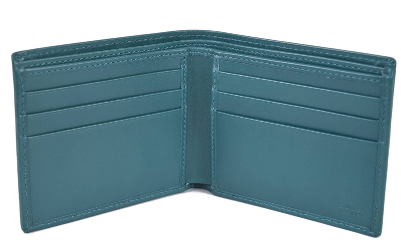 31736e22facc Amazon.com: Gucci Men's Teal Imprime GG Guccissima Bifold Wallet 145754:  Clothing