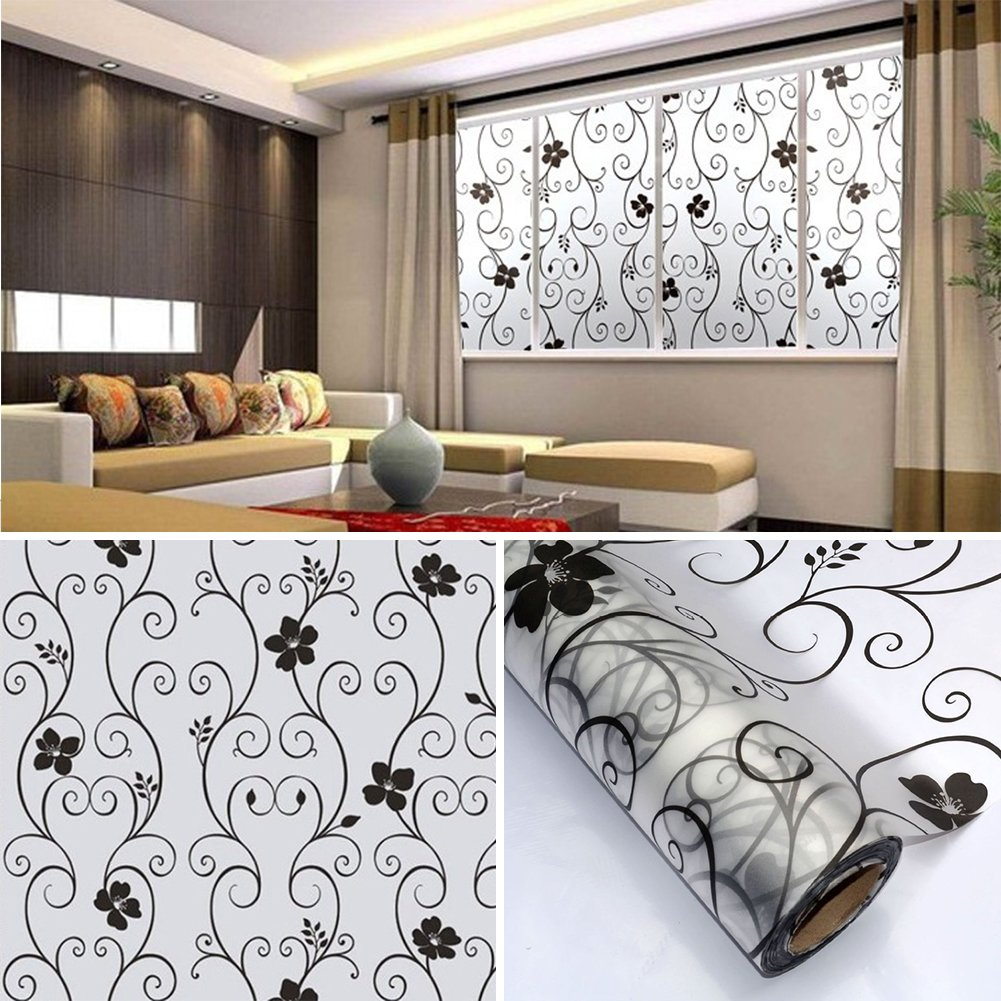 Amazoncom Soledi Sweet Window Film Decorative Xcm Frosted - Window stickers for home privacy