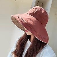 Hongyan Sombrero de Sun Hat Lady Sombrero de Pescador de Verano Sombrero de Sol Plegable Sombrero de Visera de Playa de Vacaciones al Aire Libre