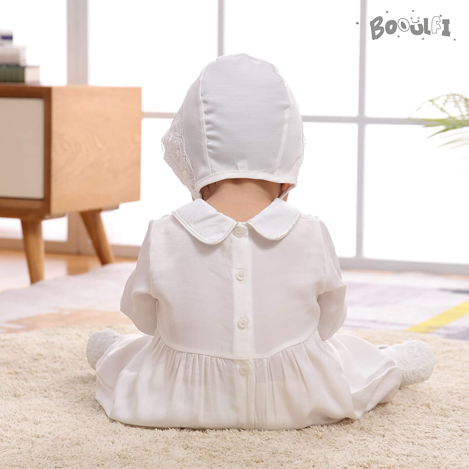 Booulfi Baby Boys 2//3 Pcs Set Christening Baptism Outfits Long Sleeve Suit Romper Set,Cross Embroidery