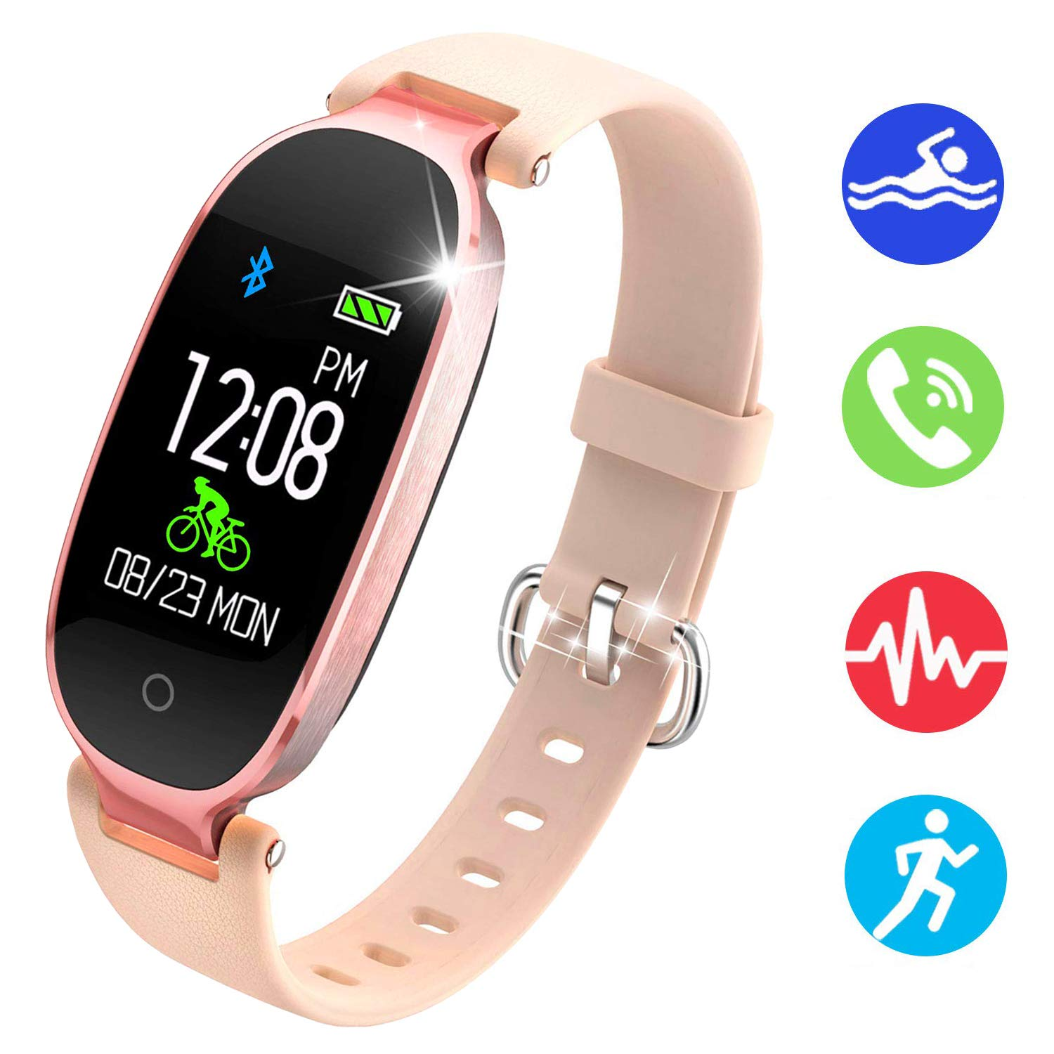 NEWBEING Fitness Watches for Women, Fitness Tracker, Waterproof Smart Watch for Android Phones and iPhone, Health Monitoring Watches, Activity Tracker, Pedometer for Walking, Heart Rate Monitor Kids. by NEWBEING