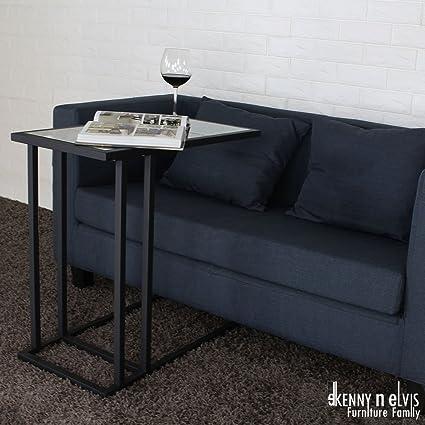 Phenomenal Amazon Com Kennynelvis 25 6 Camel Sofa Side Table Black Inzonedesignstudio Interior Chair Design Inzonedesignstudiocom