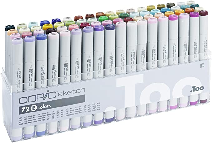 Copic Set E - Juego de rotuladores para dibujo (72 unidades), multicolor: Amazon.es: Oficina y papelería