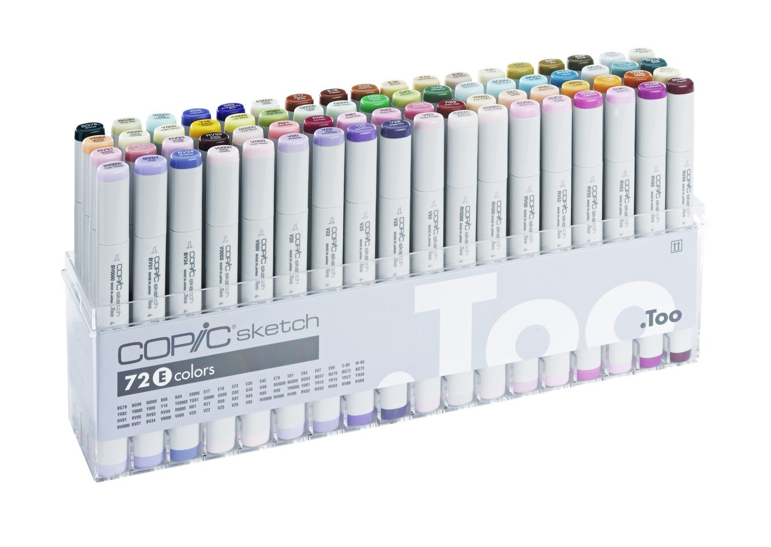 amazon com copic marker 72 piece sketch set e s72 e