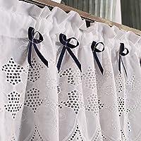 Britse Korte Gordijn Puur Wit Prachtige Borduurwerk Half Gordijn Holle Borduurwerk Keuken Tier Gordijn Boog Decoratie…