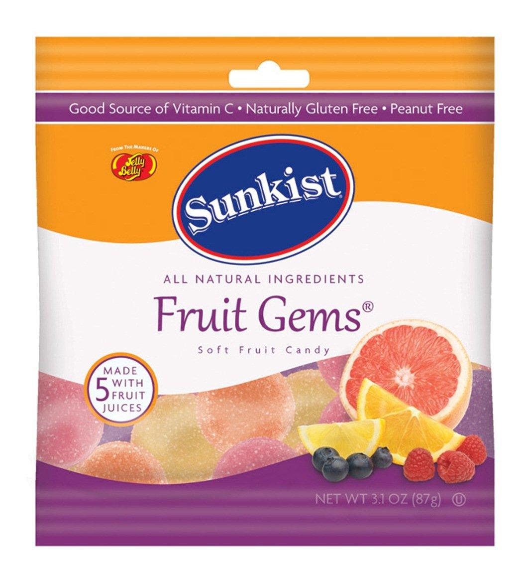 Jelly Belly 45041 3.1 Oz Jelly Belly® Funkist Fruit Gems 12 Bag Case by Sunkist