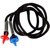 Radians CEPNC-B Custom Molded Earplugs Black Neckcord with Red and Blue Screws