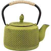 Tea Kettle, Japanese Cast Iron Teapot with Stainless Steel Infuser, Cast Iron Tea Kettle Stovetop Safe, Durable Cast…