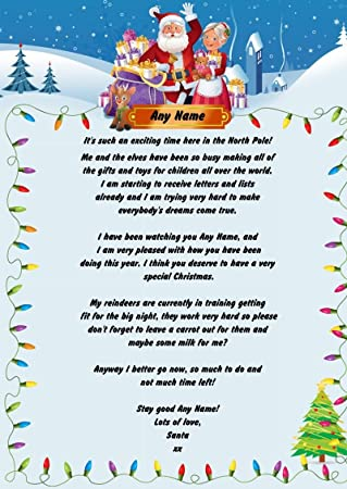 lights personalised christmas letter from santa amazon co uk