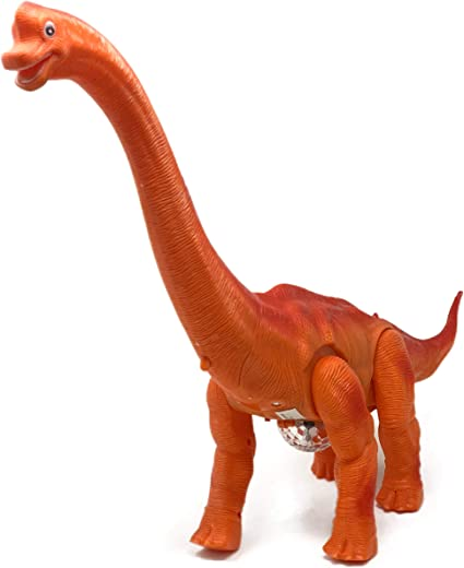 Battery Powered Walking Dinosaur Model with Lights /& Sounds Brachiosaurus