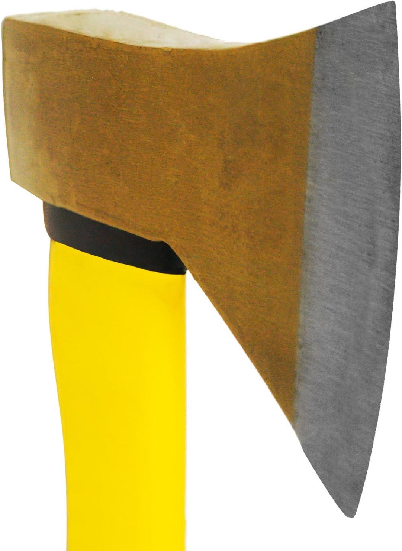 TronicXL Profi Axt Spaltaxt mit Fiberglas Stiel Spaltkreuz Spalthammer Forstaxt Holzaxt Set mit 3er F/ällkeil F/ällkeile Spaltkeil Spaltkeile Forst Forstwirtschaft Holz f/ällen Brennholz