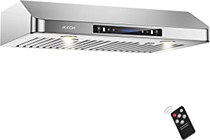 """IKTCH 30 Inch Under Cabinet Range Hood 900-CFM 