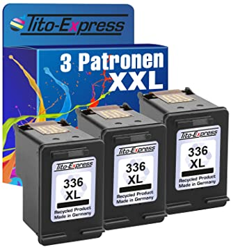 3 cartuchos de impresora para HP 336 XL Black Photosmart ...