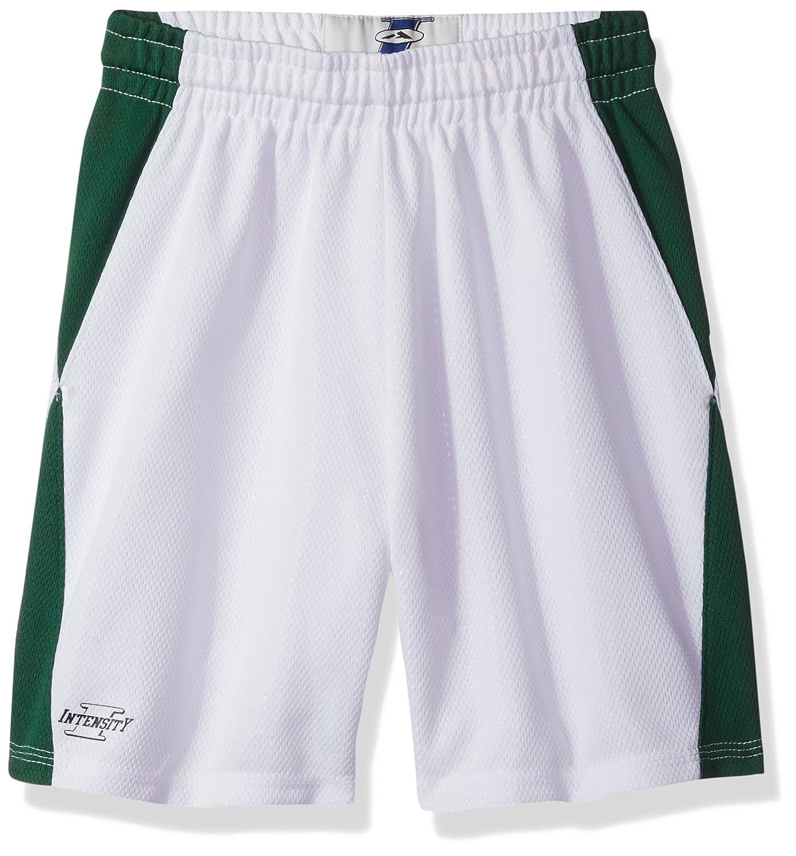 強度ユニセックスユースダイヤモンドFlatbackメッシュバスケットボールショート B004CJVZ1I ホワイト/ダークグリーン Large