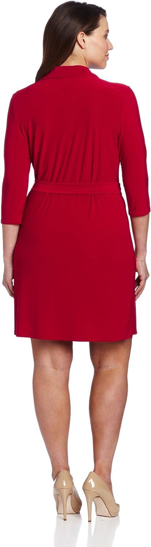 Star Vixen Womens Plus-Size Faux Wrap Dress