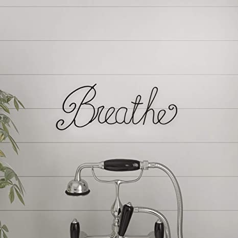 Amazon Com Lavish Home Metal Cutout Breathe Wall Sign 3d Word Art Accent Decor Perfect For Modern Rustic Or Vintage Farmhouse Style Home Kitchen