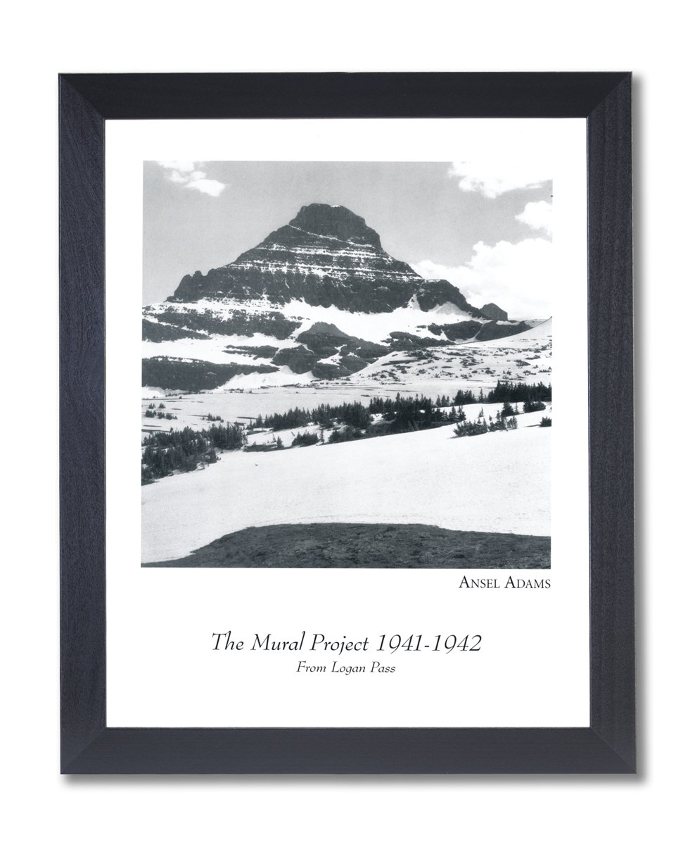 Amazon com ansel adams logan pass b w photo picture black framed art print posters prints
