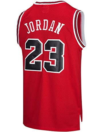 678ab183ed0a3f RAAVIN Legend Mens  23 Basketball Jersey Retro Athletics Jersey Red White  Black Strip S